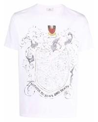 Etro Slogan Embroidered T Shirt