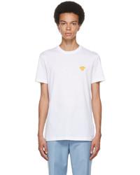 Versace White Embroidered Medusa T Shirt
