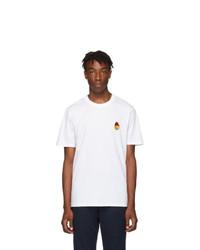 AMI Alexandre Mattiussi White Smiley Edition T Shirt
