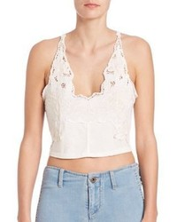 Free People Santa Cruz Embroidered Cropped Top