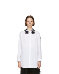 Moncler Genius 4 Moncler Simone Rocha White Embroidered Collar Shirt