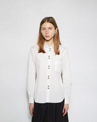 Comme des Garcons Comme Des Garons Girl Embroidered Button Up Shirt