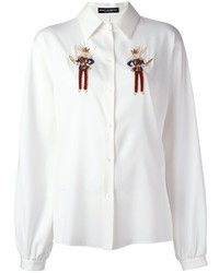 Dolce & Gabbana Beaded Rabbit Detail Shirt