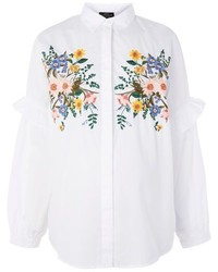 Topshop Maternity Forest Floral Embroidered Shirt