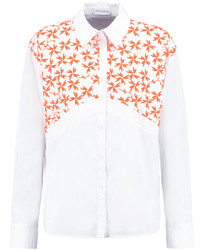 Ryan embroidered cotton blend poplin shirt medium 748886