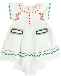 Stella McCartney Embroidered Muslin Dress Diaper Cover
