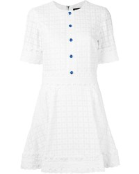 House of Holland Embroidered Flared Dress