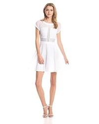 Sam Edelman Embroidered Short Sleeve Dress
