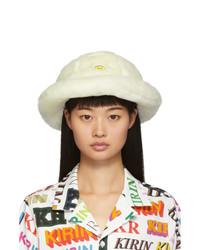 Kirin Off White Faux Fur Smile Bucket Hat