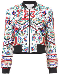 Alice + Olivia Aliceolivia Embroidered Fitted Jacket