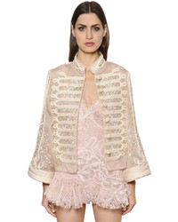 Ermanno Scervino Embroidered Silk Organza Jacket