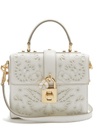 Dolce & Gabbana Dolce Soft Embroidered Leather Cross Body Bag