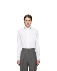 Gucci White Dragon Collar Shirt