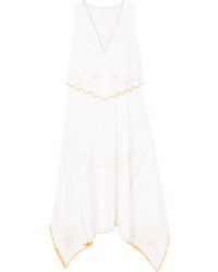 See by Chloe Asymmetric Embroidered Cotton Dress