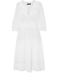 Isabel Marant Eline Embroidered Cotton Voile Midi Dress