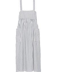Embroidered organic cotton midi dress white medium 3700797
