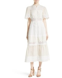 La vie embroidered voile midi dress medium 3686186