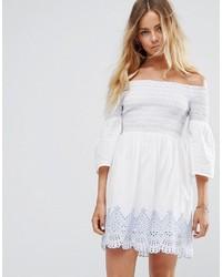 Miss Selfridge Bardot Embroidered Dress