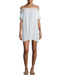 LaBlanca La Blanca Island Fare Embroidered Trim Coverup Dress