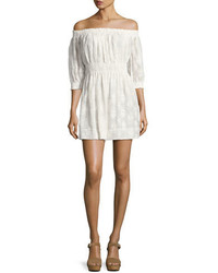 Rebecca Taylor Selina Embroidered Off The Shoulder Dress