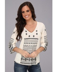 Lucky Brand Redondo Embroidered Top T Shir