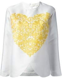 Stella McCartney Embroidered Heart Blouse
