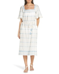 Tory Burch Embroidered Linen Cotton Dress