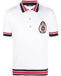 Balmain Embroidered Crerst Polo Shirt