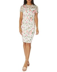 Floral embroidered sheath dress medium 5255693