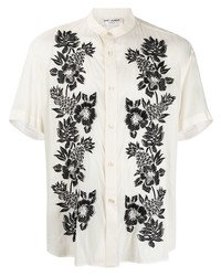 Saint Laurent Embroidered Floral Shirt