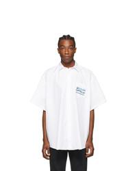 Vetements White Capitalism Short Sleeve Shirt