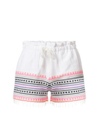 Lemlem Embroidered Stripes Shorts