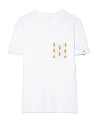 Chloé International Day Embroidered Cotton Jersey T Shirt