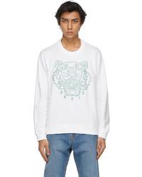 Kenzo White Classic Tiger Sweatshirt