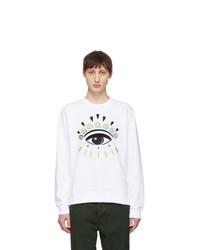 Kenzo White Eye Sweatshirt
