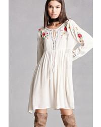 Forever 21 Velzera Embroidered Swing Dress