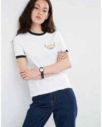 Asos Collection T Shirt With Winner Embroidery