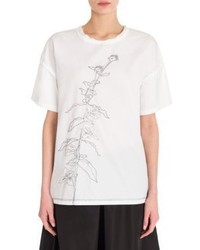 Jil Sander Embroidered Cotton Tee