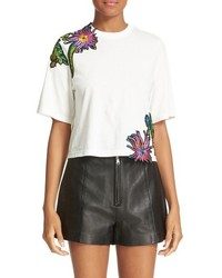 3.1 Phillip Lim Embroidered Floral Patch Tee