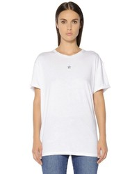Stella McCartney Star Embroidered Cotton Jersey T Shirt