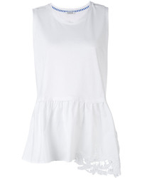 P.A.R.O.S.H. Embroidered Peplum Tank