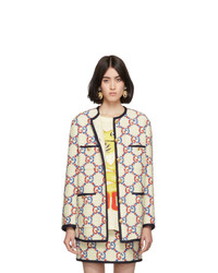 Gucci White Tweed Sylvie Bomber Jacket