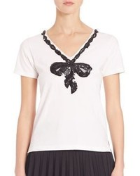 Marc Jacobs Embroidered V Neck Tee