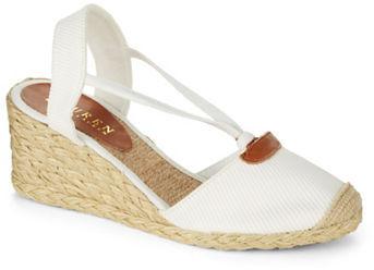 Women's Fashion › Footwear › Flats › Espadrilles › White Espadrilles Lauren  Ralph Lauren Cala Espadrille Wedges ...