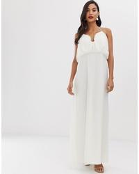 ASOS DESIGN Maxi Dress With Halter Neck And Blouson Bodice