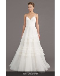 Amsale Saylor Ruffle A Line Gown