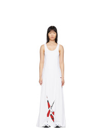 Reebok by Pyer Moss White Collection 3 Logo Long Dress