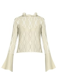See by Chloe See By Chlo Eyelet Knit Long Sleeved Top