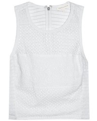 Rebecca Taylor Masie Eyelet Cropped Top