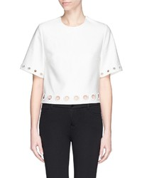 Nobrand Eyelet Embroidery Cropped Top